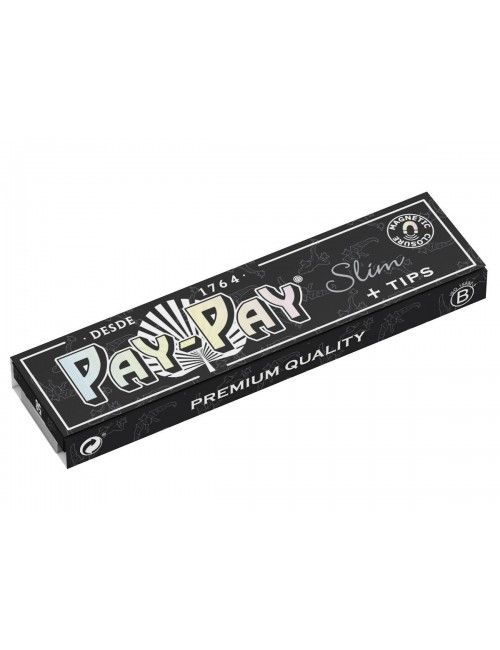 PAY-PAY Black King Size Slim + Tips