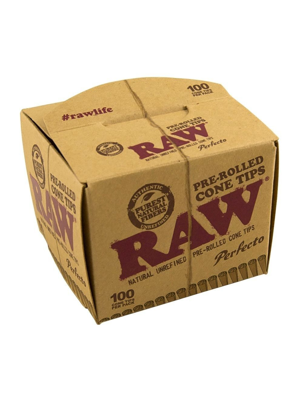 RAW Prerolled Cone Tips 100