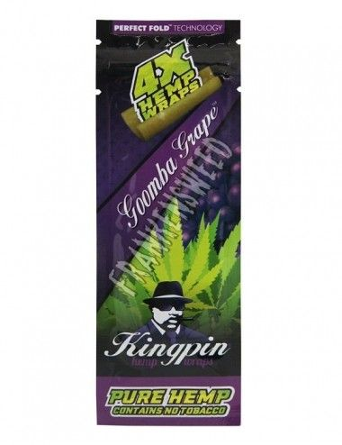 Kingpin Hemp Wraps Rolls Goomba Grape