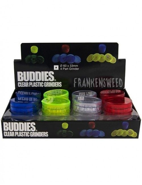Buddies Plastic Grinder Medium con Tamiz