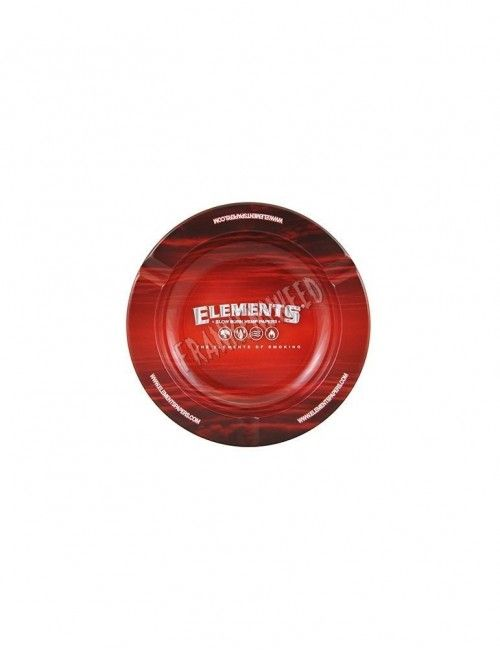 Elements RED Metal Ashtray Plain