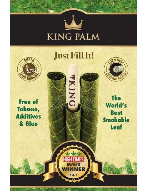 King Palm Cone Leaf - 25 Slim Rolls