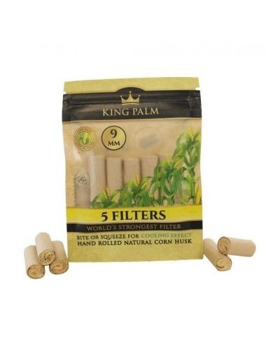 King Palm 9mm Corn Husk - 5 Filters