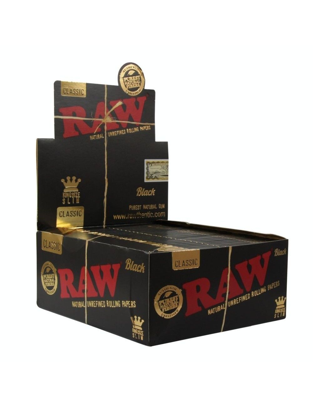 Raw Black King Size Slim Europe Edition