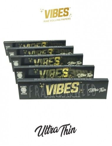 Comprar Pack de 5 unidades de Vibes Papers Ultra Thin KS Slim en Frankensweed Shop Online, España.